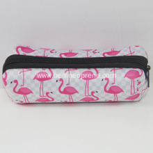 Stylish Flamingo Custom Neoprene Pencil Bags