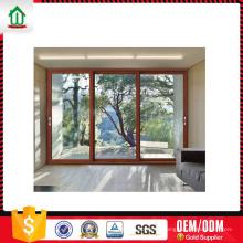 Design elegante três painel de porta de vidro deslizante Design elegante três painel de porta de vidro deslizante