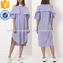 Blue and Red Striped Dress Manufacture Wholesale Fashion Women Apparel (TA4057D)