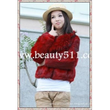 Fah007 OEM venta al por mayor de piel de prendas de vestir de piel de ropa de piel de conejo de piel de visón piel de ropa chaqueta de piel