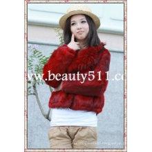 fah007 OEM wholesale fur garment fur clothing rabbit fur mink fur clothing fur jacket
