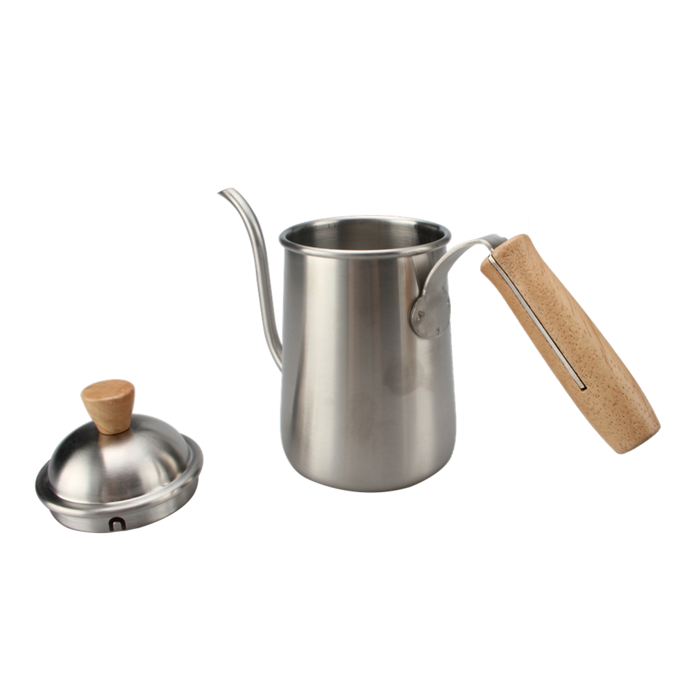 Wood Handle 650ml Pour Over Coffee Drip Kettle