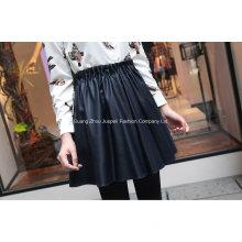 Fashion Ruffled PU Skirt