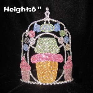 Crystal Wholesale Cupcake Pageant Crowns