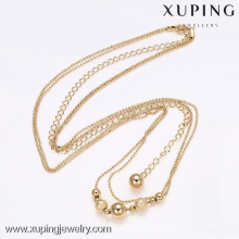 42062-Xuping Fashion18k banhado a ouro colar de corrente longa