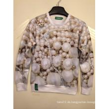 Luxus-Perlen-Schmucksachen 3D Druck-Hemd