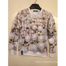 Chemise d'impression 3D pour bijoux de perles de luxe