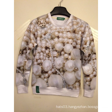 Luxury Pearl Jewelry 3D Printing Shirt