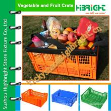 new plastic folding crate/storage box/pcinic crate