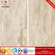 China fábrica de telhas de construção de materiais de vidro vidrado e parede de madeira olhar telhas