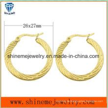 Shineme Schmucksache-Vakuumüberzug-Goldbolzen-Ohrring (ERS6918)
