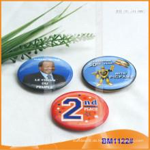 Kundenspezifisches gedrucktes runder Knopf-Abzeichen mit sicherem Stift für Förderung BM1122