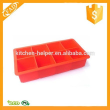 Practical New Arrival 8-Cavity Flexible Silicone Large Ice Cube Trays