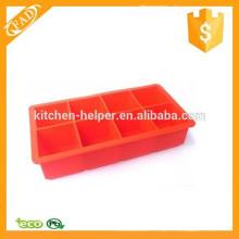 Prático New Arrival 8-Cavidade Flexível Silicone Grandes Bandejas Ice Cube