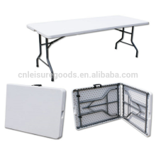 Wholesale Portable HDPE Folding Rectangular Table in plastic Folding Rectangular Table