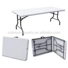 Оптовая портативный HDPE складной прямоугольный стол в пластиковый складной прямоугольный стол