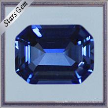 Octagon Emerald Cut Saphir bleu lumineux pour les bijoux de mode