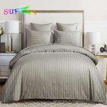 Roupa de cama marca / hotel fundações / faixa de cetim branco conjunto de cama