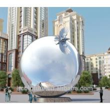 Esfera metálica grande al aire libre al aire libre grande de las bolas del acero inoxidable 304L