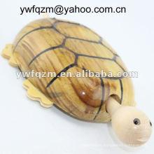 arte, mentes, madera, artesanías, tortuga, para, decoración