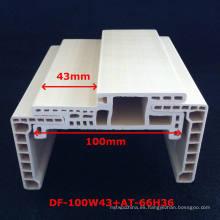 Nueva llegada un estilo de puerta de PVC WPC marco puerta de PVC laminado perfil de puerta Df-100W43