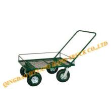 Jardín carro de herramienta de metal con rueda neumática 3.50-4
