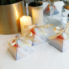 Foldable wedding favor candy chocolate packing box