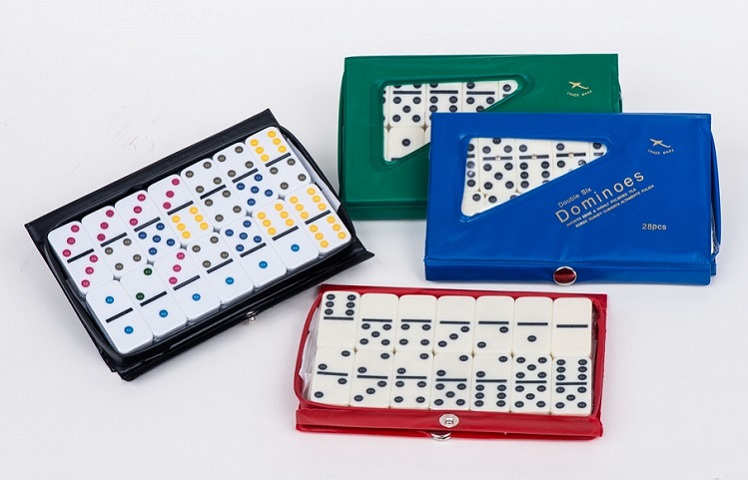 Double 6 Ivory dominoes packed in PVC box