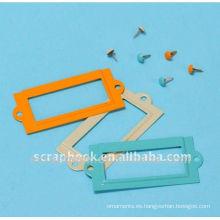 materiales del colorido mini foto marco encantos/scrapbooking