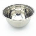 reusable metal tableware sanding stainless steel salad serving bowl