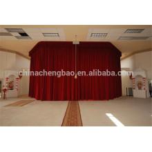 Nuevas cortinas de la iglesia del terciopelo de la manera con el motor para la venta