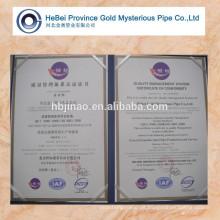 Forma normal 15-80MM del tubo de acero de la alta precisión de Jinao Hebei