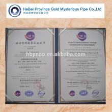 Jinao Hebei Brand High Precision Steel Tube forme normale 15-80MM