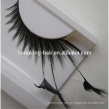 mirada natural de buena calidad de las pestañas de cabello humano