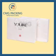 Black Printing Matt Surface White Gift Packing Bag (CMG-MAY-037)