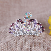 Paleta colorida de la tiara del Rhinestone de la corona de los cabritos para partido