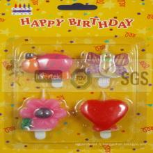 Diverses bougies d'anniversaire animées de modèle