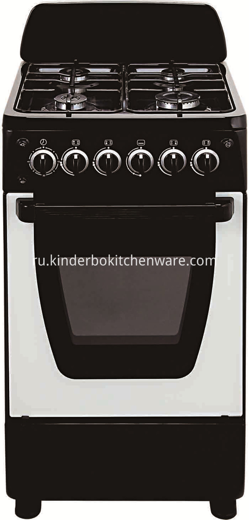 High Quality Professional 4 Burner Gas Cooker with Oven Series Gas Stove