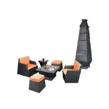 Ensemble de meubles de rotin empilable Rotin synthétique PE