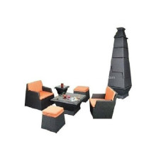 PE Synthetic Wicker Stackable Rattan Furniture Set