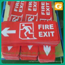 Safty Fire Exit Sign Custom Sticker Printing