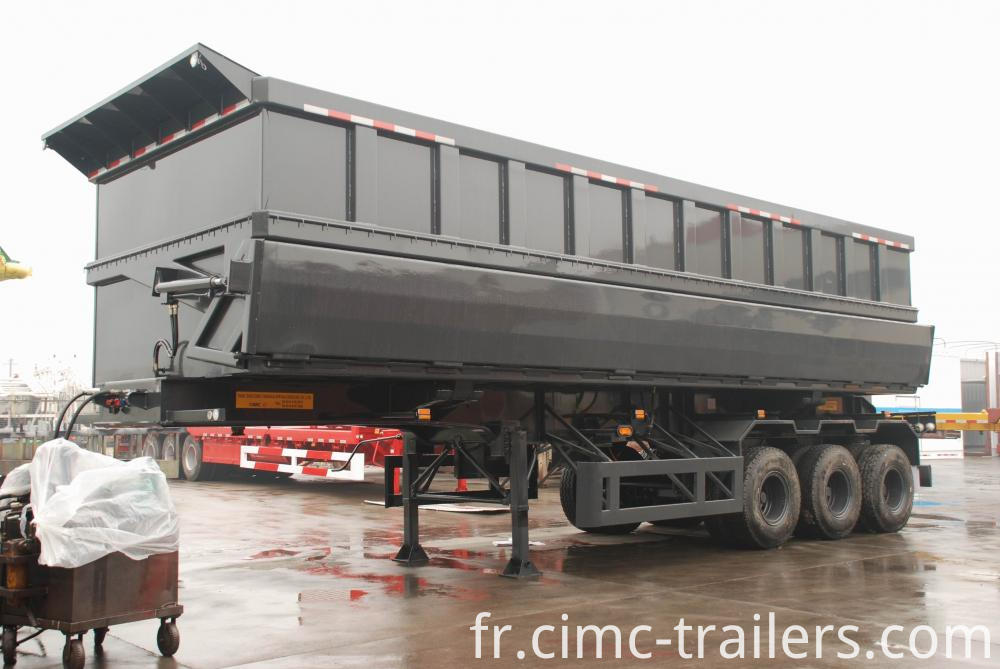 Lf Tri Axle Side Dump Semi Trailer