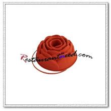 V101 molde de pastel de forma de rosa de silicio