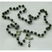 Religious Acrylic Glass Bead Necklace-Rosary (THR-AR009)