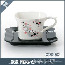 180cc Porzellantassen-Set, kleine Tasse mit Splitter-Design