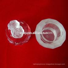 Caja de joyas de cristal tallado con mango de rosa