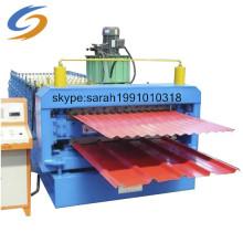 Machine de formage de rouleaux de tuiles de toit à double couche en acier de couleur de haute qualité