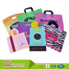 Durable Custom Logo Printing Plastic Material Food / Cloth Carrying Bag