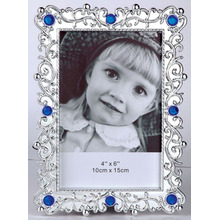 Baby Plastic Photo Frame With Diamond For Promotion