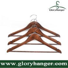 Antike Holz Kleiderbügel für Mann mit Bar